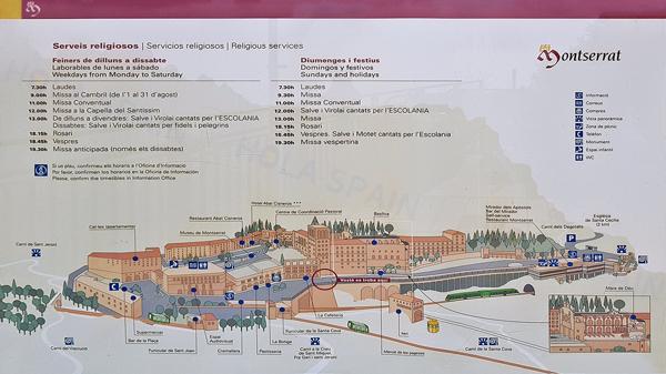 몬세라트 수도원 지도